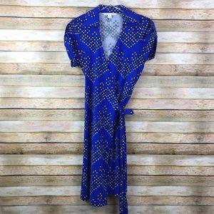 Diane Von Furstenberg • Jilda Two Blue Wrap Dress